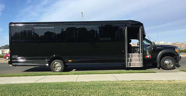 24-passenger Limo Bus rental for San Francisco & the Bay Area
